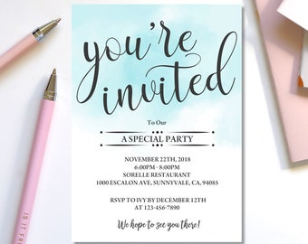 youre invited template youre invited digital invitation template editable business template special event invitation template