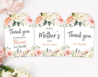 picture regarding Mother's Day Tags Printable titled Moms working day tags Etsy