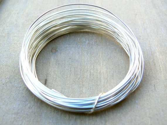 Silver Plated Wire - 0.8mm - 20g AWG - 6 metres - round silver plated on