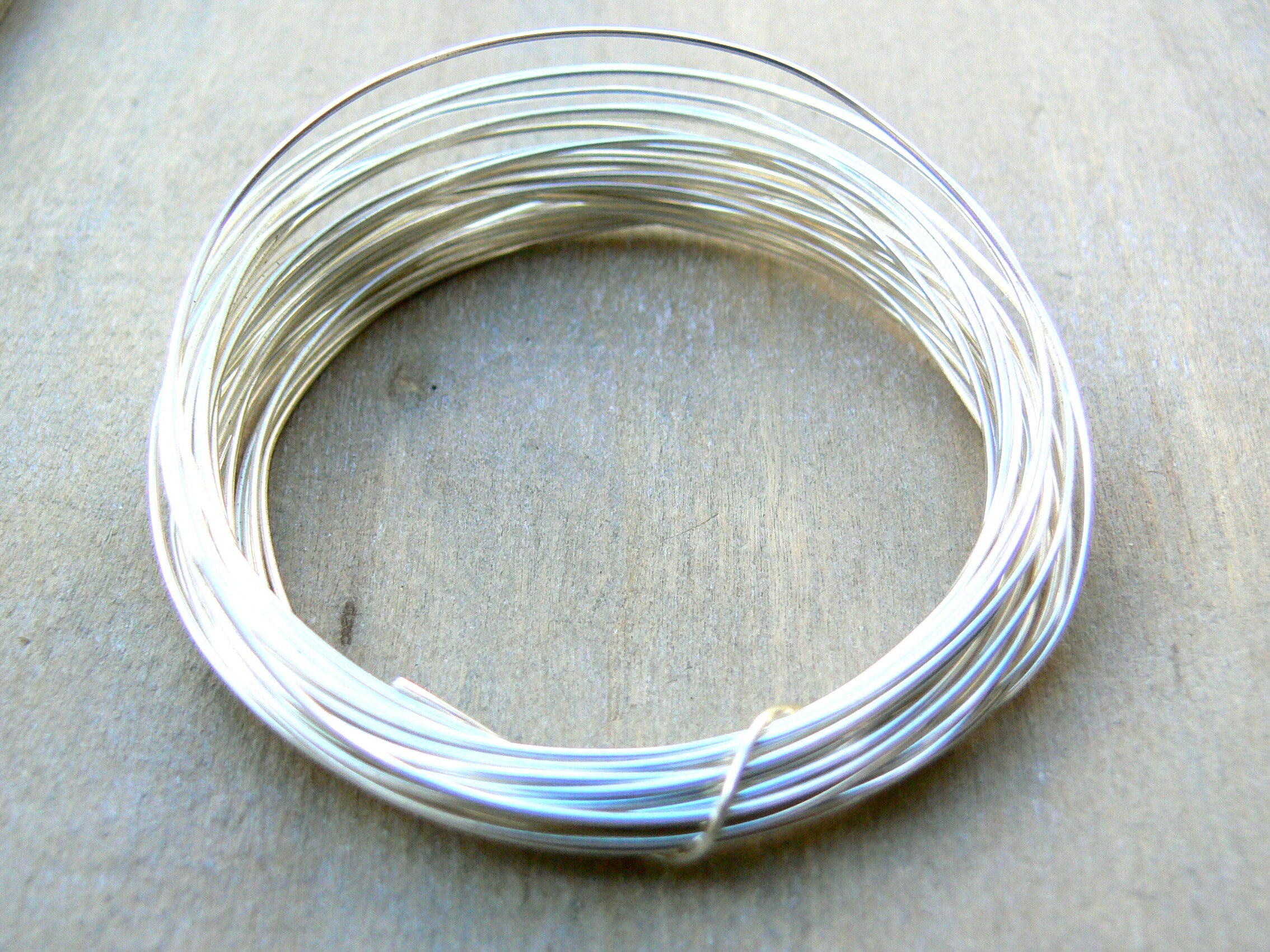 Silver Plated Wire - 0.8mm - 20g AWG - 6 metres - round silver ...