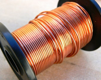 1.0mm round copper wire - 18g copper wire - bare copper wire - jewelry making supplies - wire wrapping supplies - jewelry wire - WCW018, 4m