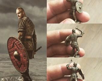 Bjorn in bronze figure vikings TV series