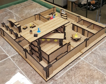 DIY dungeon - base set  - expandable - build your own dungeon for rpg gamers NEWLY UPDATED!  Now with Furniture! D&D Pathfinder
