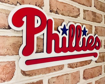 afa8e1ab8875 Philadelphia Phillies 3d bar basement man cave sign!