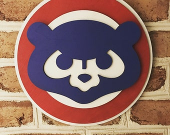 Chicago Cubs 3d sign limited edition man cave art wooden sign!