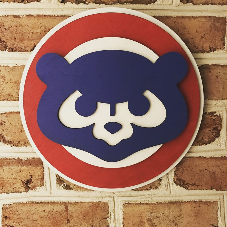 Chicago Cubs 3d Sign Limited Edition Man Cave Art Wooden Sign