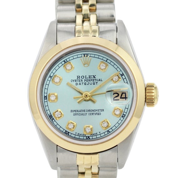 Rolex Lady Datejust 6917 Diamond Dial Smooth Bezel 26mm Watch