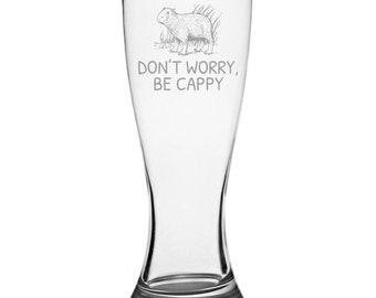 Funny Capybara Beer Glass - Capybara Lover Gift Idea - Capybara Gift -  Don t Worry 80e37ce9c36c