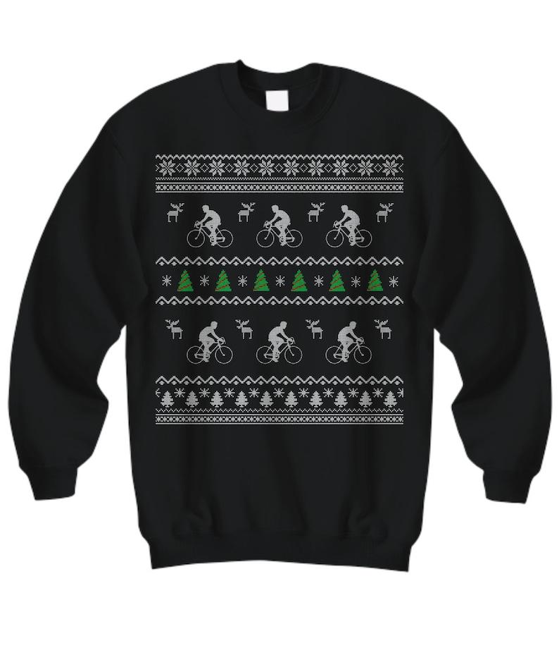 Cycling Ugly Christmas Sweater Cyclist Ugly Christmas  c1b0b6615