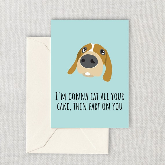 Funny Dog Birthday Card Lover Printable