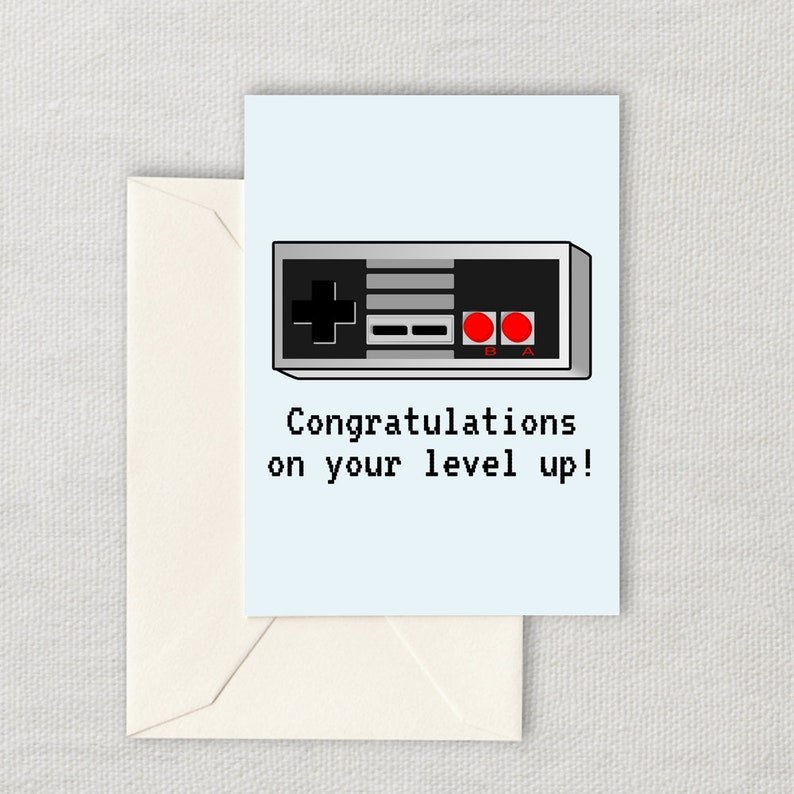 Video Gamer Birthday Card Retro Game Console Printable