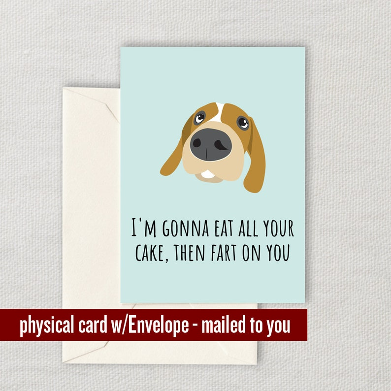 Funny Dog Birthday Card Lover Trainer