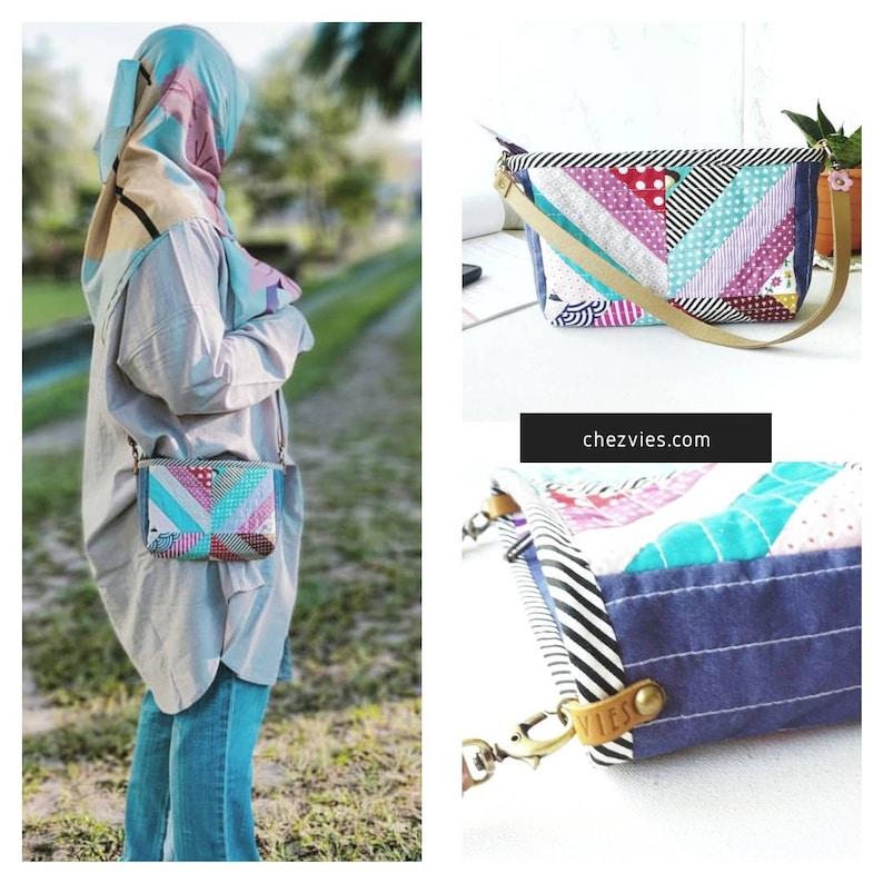 Dotty Pdf Purse Pattern Small Handbag e-Patterns Patchwork image 7