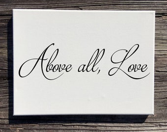 Above all Love Wall Decor