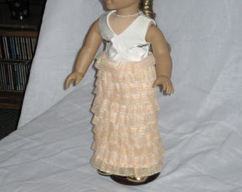 """American Girl Ruffled Prom Bridesmaid Dress,Wedding 18"""" Doll Party Dresses, Doll Formals Girl Toys and Playthings for Dolls,Gift for Girls,"""