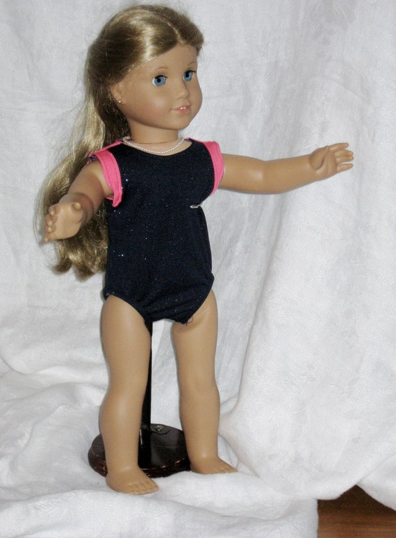 daadcd998c3c Gymnastics Leotard for 18 Dolls Navy Sparkly and Pink