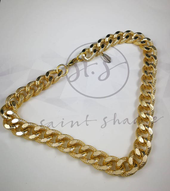 Thick Gold Chain Necklace Short Gold Necklace Simple Yet Etsy