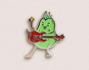 Guitar Pin - Punky Pear Enamel Pin