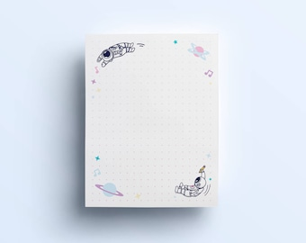 """Cosmic Stranger Notepad- Dotted Notepad (4""""x6"""")"""