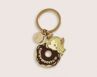 Donut Girl Keychain - Carby Monsta - Carbs for life