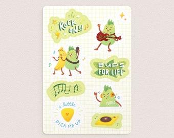 Punky Pear Sticker Sheet