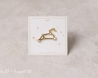 Leo Constellation Pin