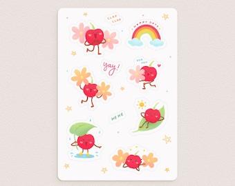 Cheerful Cherry Sticker Sheet