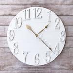 Vintage White Large Wall Clock - 24 30 36 inch - Oversized Farmhouse Wall Decor - Farmhouse Style - Shiplap