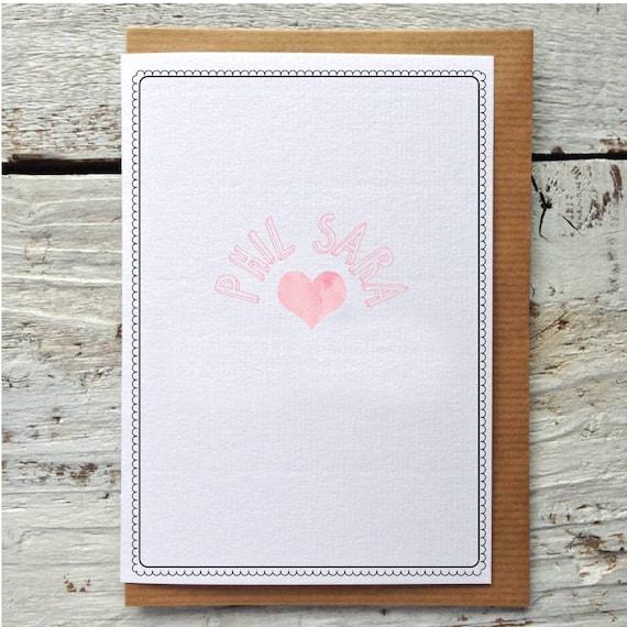 Personalisierte Begrüßung / Valentinstag-Karte | Etsy