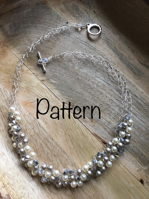 Beaded Wire Crochet Necklace Pattern Only Etsy