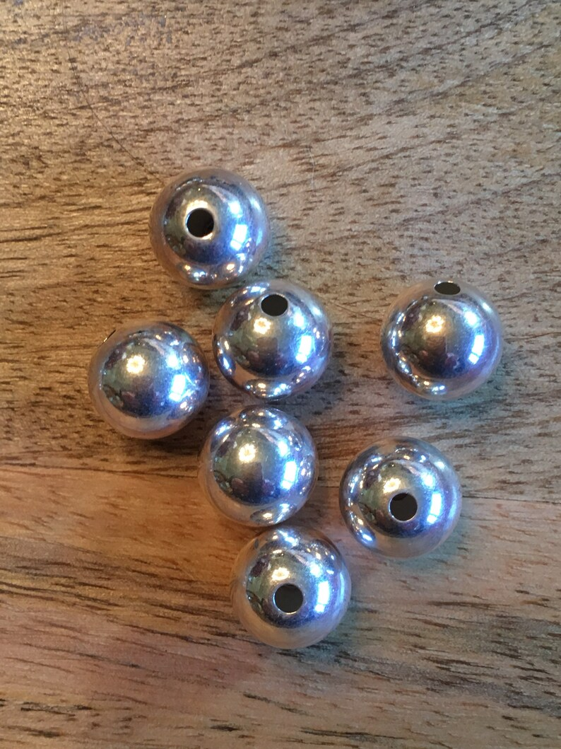 12 mm Sterling Silver Seamless Round Beads