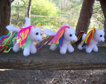 Pegasus, Alicorn, and Unicorn Trio