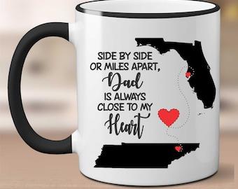 Custom Dad with States Mug, Custom Dad's Mug, Custom Fathers Day Mug, Fathers Day Gift, Dads Mug, Fathers Day Mug, Gift for Dad,Cute Dad Mug