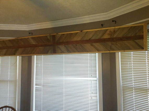 Arrow Pattern Barn Wood Double Window Cornice Etsy