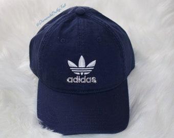 Swarovski Women s Bling Adidas Hat Precurved Strapback Navy Blue Dad Hat  Cap Blinged Out With Swarovski Crystals 916ba36e497