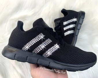 all black womens adidas sneakers