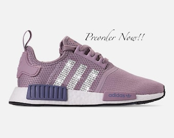 best loved 30044 45ec1 Swarovski Women s Adidas Originals NMD R1 Purple Sneakers Blinged Out With  Authentic Clear Swarovski Crystals Custom Bling Adidas Shoes