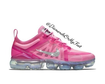 pretty nice ecf66 5c7b0 Swarovski Women s Nike Air Vapormax 2019 2 Psychic Pink Sneakers Blinged  Out With Authentic Clear Swarovski Crystals Custom Bling Nike Shoes