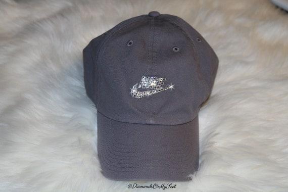 Swarovski Women s Bling Nike Hat Sportswear H86 Washed  d96d073cd51c