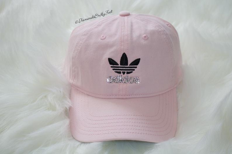 Swarovski Women s Bling Adidas Hat Precurved Strapback  5add8f4ff