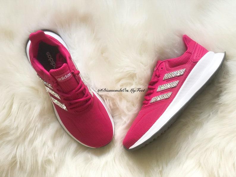 Swarovski Donna Adidas Run Falcon Fuchsia Pink Sneakers 2SKFLf5D