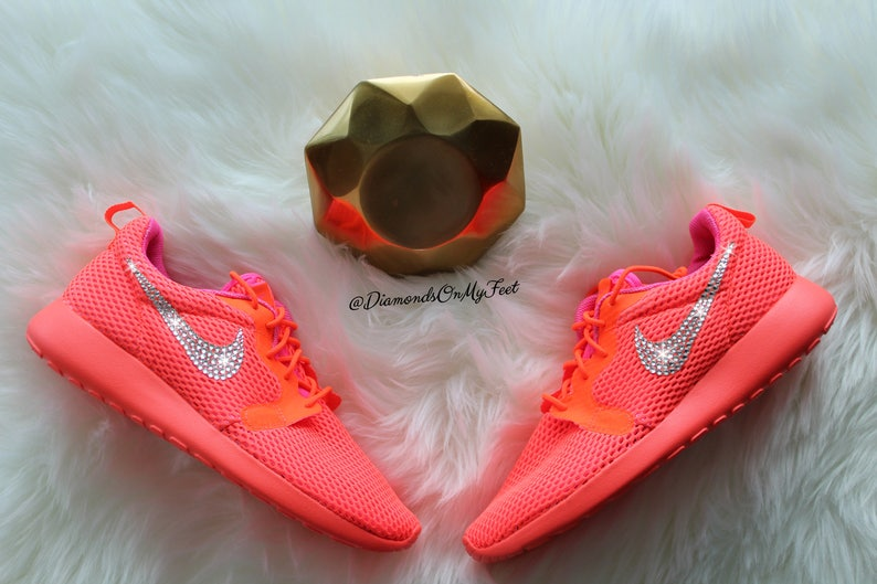 83ce595024e00 Swarovski Women s Nike Roshe Run Hyper Breathe Orange