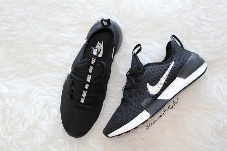 new style 879bd 4cdd9 Swarovski Womens Nike Ashin Modern Roshe Run Black  Etsy