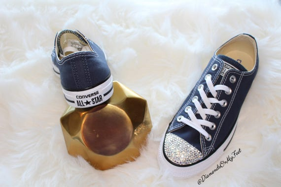 c335a875140b Swarovski Women s Converse Chuck Taylor All Star Navy Blue