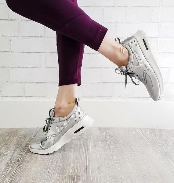 Swarovski Women s Nike Air Max Thea Silver   White  7937001f0