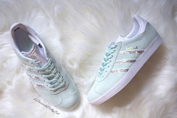 f74b55f5386d Swarovski Women s Adidas Originals Gazelle Mint Green
