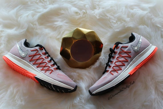 Bling Air Blinged de avec blanc 32 clairs Pegasus personnalis Nike Orange Zoom baskets femme Swarovski Out cristaux amp; Swarovski Tvw6dfdq
