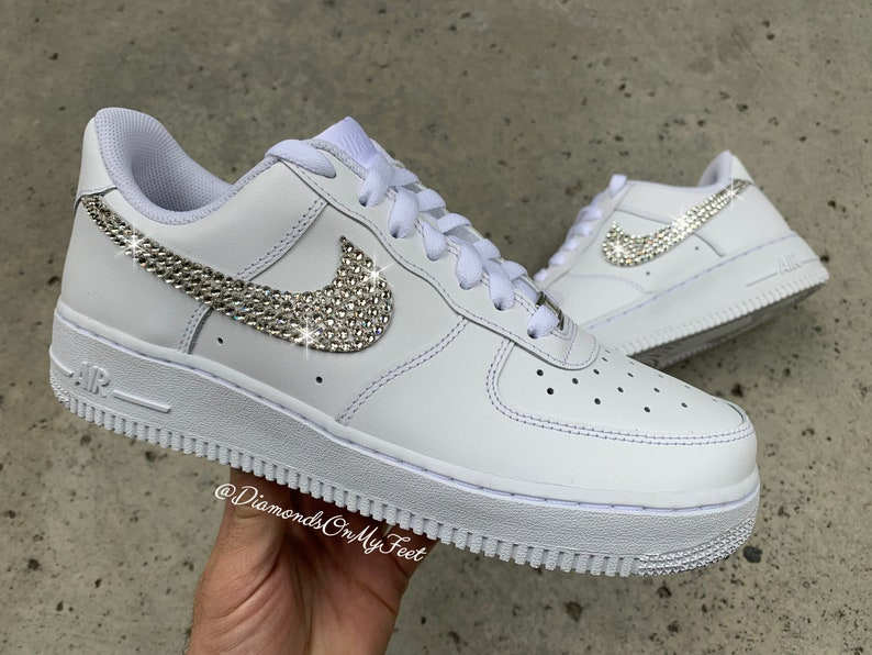 Nike Air Force 1 Low White Iridescent Women's Shoes Cj9