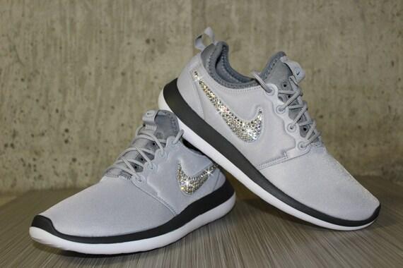 84e288ddf511 Swarovski Women s Nike Roshe Two Roshe Run Wolf Gray