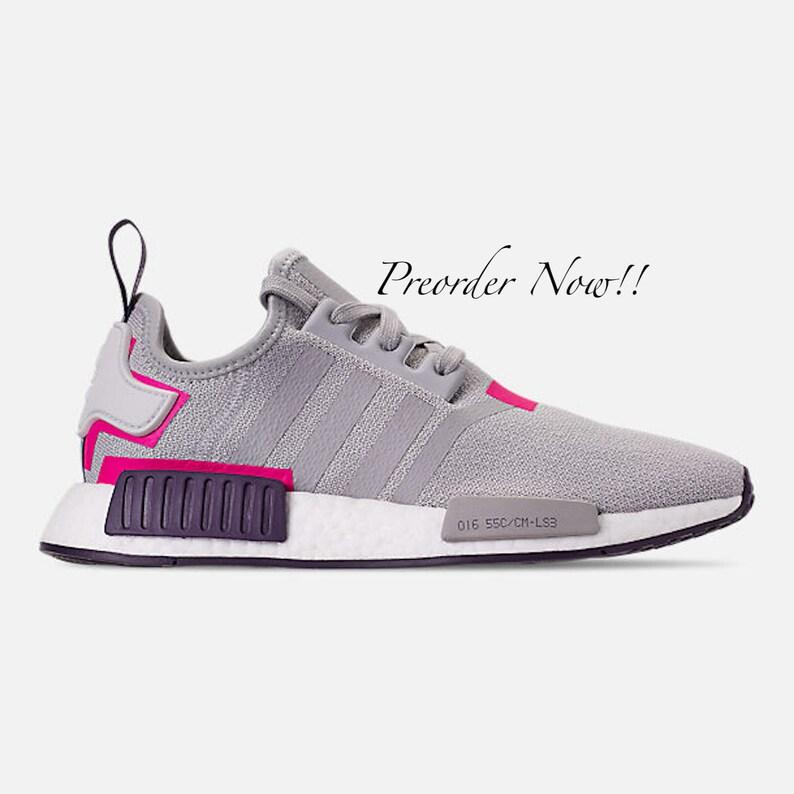 805894b4d Swarovski Women s Adidas Originals NMD R1 Gray   Pink